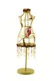 L'annata ha ricamato il modello vestito/del manichino con i branelli Fotografia Stock