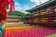 L'anniversaire de Bouddha chez Samgwangsa Image stock
