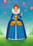 L'anniversaire de la reine Image stock