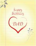 L'anniversaire du papa Photographie stock
