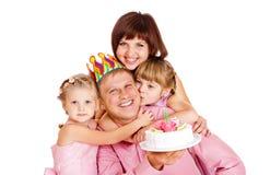 L'anniversaire du papa Photos stock