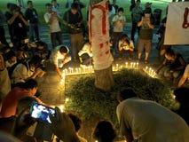 L'anniversaire du soulèvement d'étudiant du 6 octobre 1976 Photos libres de droits