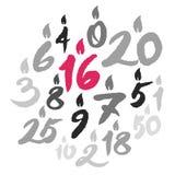 L'anniversaire mire des nombres Image stock
