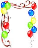 L'anniversaire monte en ballon l'invitation Images libres de droits