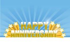 l'anniversario felice stars la carta Fotografia Stock