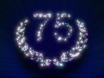 L'anniversario Stars il numero 75 Fotografia Stock