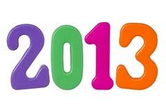 L'anno 2013 ha isolato su bianco Fotografia Stock