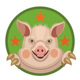 L'anno dell'emblema del maiale 2019 fotografie stock