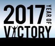2017 l'anno di vittoria Illustrazione Vettoriale
