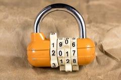 L'anno 2017 mostra una combinazione della serratura Fotografia Stock