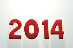 L'anno 2014 nei numeri di legno insieme Immagine Stock