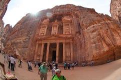 L'annonce-Deir de monastère, PETRA antique de ville de Nabataean, Jordanie Temple antique dans PETRA Photo libre de droits