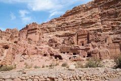 L'annonce-Deir de monastère, PETRA antique de ville de Nabataean, Jordanie Temple antique dans PETRA Images libres de droits
