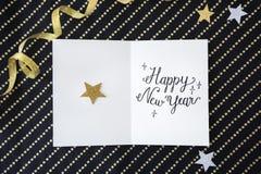 L'annuaire de nouvelle année célèbrent le concept d'événement de décembre Photographie stock libre de droits