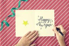 L'annuaire de nouvelle année célèbrent le concept d'événement de décembre Photos libres de droits