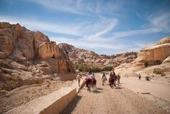 L'annuncio-Deir del monastero, PETRA antico della città di Nabataean, Giordania Tempio antico nel PETRA Immagini Stock