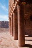 L'annuncio-Deir del monastero, PETRA antico della città di Nabataean, Giordania Tempio antico nel PETRA Fotografie Stock Libere da Diritti