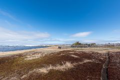 L`anse Aux Meadows Viking Village, National Historic Site, Newfoundland. L`anse Aux Meadows is a National Historic Site at the most northern tip of Newfoundland Royalty Free Stock Image