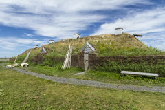 L'Anse Aux Meadows Viking Long Hall Stock Photos