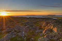 L'Anse Aux Meadows Warm Sunset Stock Images