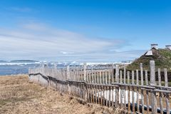 L ` anse Aux Weiden Viking Village, Nationale Historische Plaats, Newfoundland royalty-vrije stock foto