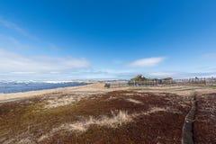 L ` anse Aux Weiden Viking Village, Nationale Historische Plaats, Newfoundland royalty-vrije stock afbeelding