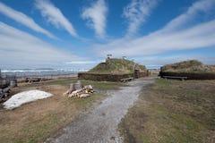 L ` anse Aux Weiden Viking Village, Nationale Historische Plaats, Newfoundland royalty-vrije stock fotografie