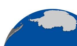 L'Antarctique sur la carte politique de la terre Photographie stock libre de droits