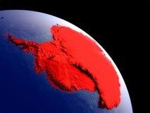 L'Antartide da spazio illustrazione vettoriale