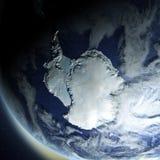 L'Antartide da spazio illustrazione di stock