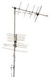 L'antenna prende il segnale televisivo Immagini Stock Libere da Diritti
