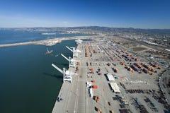 L'antenne extérieure de port d'Oakland Photographie stock