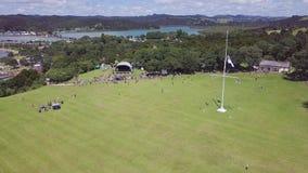 L'antenne, Traité de Waitangi fond établir le tir 4k clips vidéos