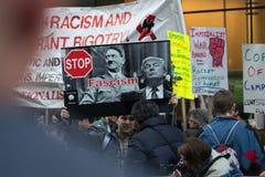 L'Anti-atout républicain du gala 2016 proteste NYC photos stock