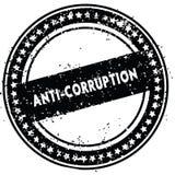 L'ANTI CORRUPTION noire a affligé le tampon en caoutchouc avec la texture grunge Images stock