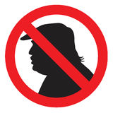 L'anti Président Donald Trump Silhouette Sign Illustration d'icône de vecteur Photo stock
