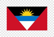 L'Antigua et le Barbuda - drapeau national Illustration de Vecteur