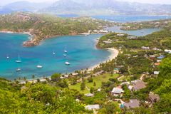 L'Antigua, isole dei Caraibi, porto inglese possa Fotografia Stock Libera da Diritti
