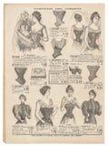 L'antiquité de corset de vintage a gravé la mode Paris de achat de photo Photographie stock