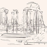 L'antiquité ruine le fond Image libre de droits