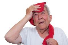 L'anziano è esaurito Immagine Stock Libera da Diritti