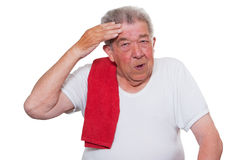 L'anziano è stanco Fotografie Stock Libere da Diritti