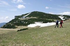 L'anziano dal riparo Ottohaus, alpi della montagna Immagine Stock Libera da Diritti