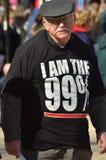 L'anziano fa parte del 99% Immagini Stock Libere da Diritti
