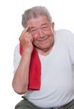 L'anziano mette in mostra facilmente Fotografia Stock