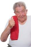 L'anziano misura per lo sport Fotografie Stock
