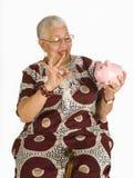 L'anziano Savor Fotografia Stock Libera da Diritti