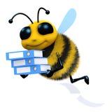 l'ape 3d fa una certa limatura Immagini Stock Libere da Diritti