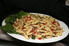 L'aperitivo della pasta è pronto per gli ospiti Fotografia Stock