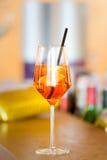 L'aperol de cocktail spritz Photographie stock libre de droits